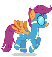 Scootaloo as a Wonderbolt by 90Sigma