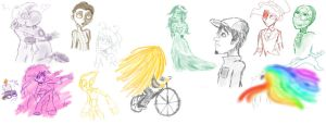 Sketch dump of awesomeness by candlehat
