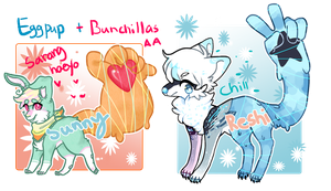 Eggpups + Bunchillas mixed auction collab [CLOSED] by jenisshi
