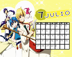 Calendario|Julo2014 by athenayabuki