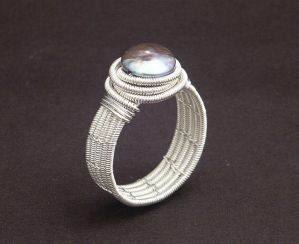 Coiled Silver Ring by WiredElements