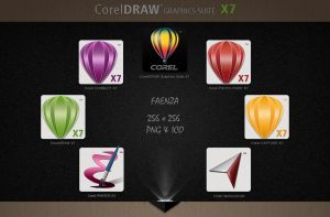 CorelDRAW Graphics Suite X7 PNG and ICO 256x256 by Agamemmnon