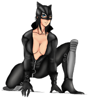 Emily catwoman by LidiaRideaAidil