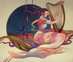The harpist by reddii