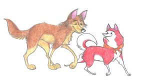 Balto and Jenna by Dead-Raccoons