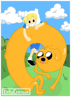 We're fa-ha-ha-ha-ha-ha-ha-ha-Finn and Jake by Libearty