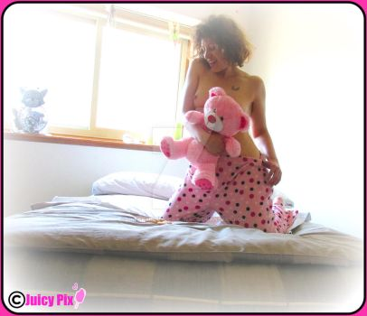 Pink Bear and Polka Dots by UndergroundCarnival