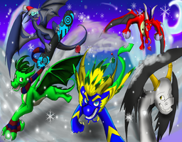 Dragon Christmas 2011 by Silver-HeartCrosser