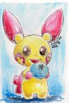 Watercolor Plusle by Kikulina