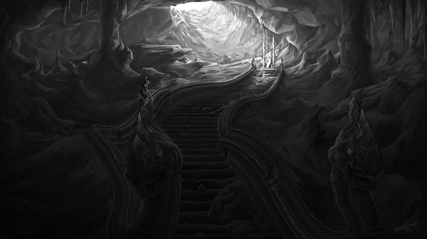 The cave of Naga by Blackhole994