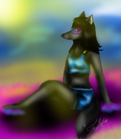 Gift: Moichao10 Wolf at the Beach by XxAnthro16xX