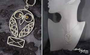 Hedwig necklace by bodaszilvia