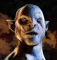 Azog - Trial Drawing by yawgmotth