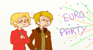 EURO PARTY by Biology-of-Pencils