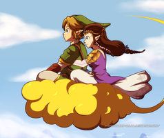 Flying home by Queen-Zelda