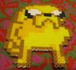 jake the dog perler bead by andre1997