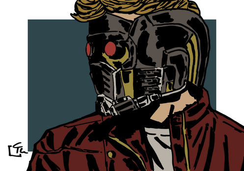 Star-Lord Warm-Up Sketch by HeroFromMars