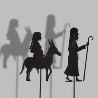 Maria and Joseph-Shadow Puppet by PaperTales