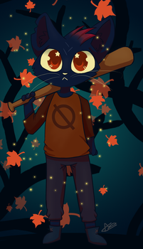 Night in the Woods (speedpaint) by Evilturtleruler