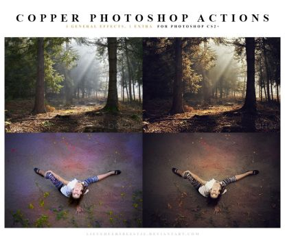 Photoshop Copper Actions by lieveheersbeestje