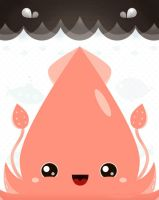 Colossal Squid of Happiness by orangecircle