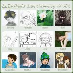 2014 Summary of Art by LaEscritora