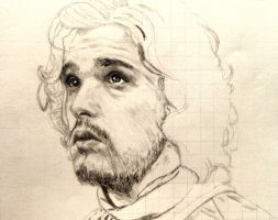 WIP: Jon Snow from Game of Thrones by shuckaby
