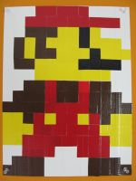 Duct Tape Pixel Art Mario by DuckTape-Rose