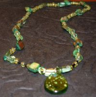Green Necklace Close Up by MollyD