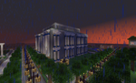 Minecraft Creations 5 Library in rain by gamequeer