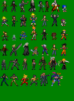 PSSB: Sprited Roster by LeeHatake93