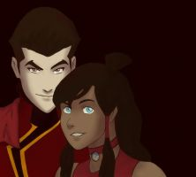 Mako and Korra (Color) by IllustrationMinion