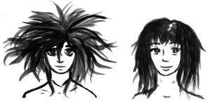 Ink faces by DAE-Art