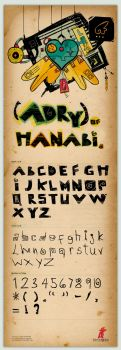 Type face: Adry of Hanabi by typoholics