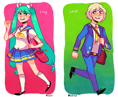 highschool au by punpatrol