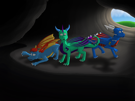 (Gift) What's that? / The Cave by SvenneTheBlockhead