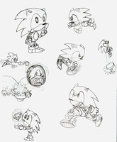 Doodle: Sonic Mega Montage by LimeTH