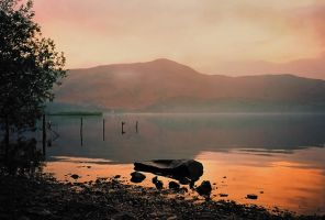 Derwent water glow by AngiWallace