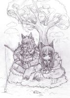 Warwick and Ahri by lin432