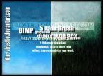 5 Rain Brush GIMP SET 1 by FrostBo