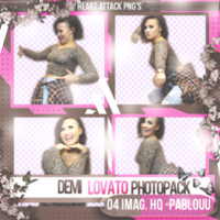 Demi Lovato Pack Png by Heart-Attack-Png
