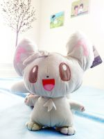 Pokemon: Minccino Plush by janelleLOVESudon