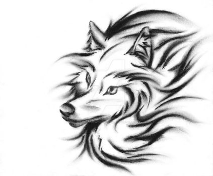 Abstracted Wolf by shadowwolfx7