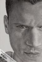 Wentworth Miller closeup by llvllagic