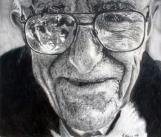 Old man - Pencil by SamBrownArt