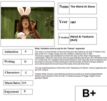 Kids TV Report Card: The Weird Al Show by CyberFox