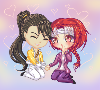 COM: Chiui and Ling Yao for mani-hime. by Corichii