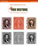 Old Stamp Brushes by 123freevectors