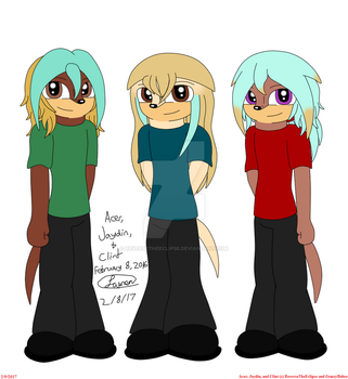 RP Anniversary: Acer, Jaydin, and Clint by ReverseTheEclipse