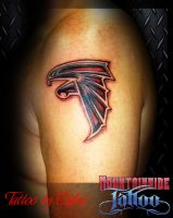 Dreamcatcher behind ear by rembratt on deviantart for Atlanta falcons tattoo